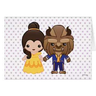 Beauty and the Beast Emoji Card