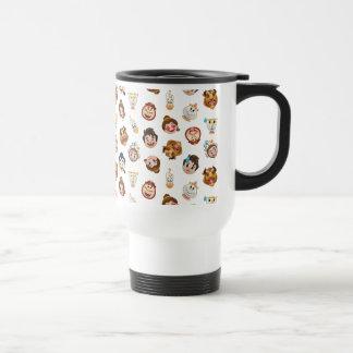 Beauty and the Beast Emoji | Character Pattern Travel Mug