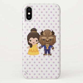 Beauty and the Beast Emoji iPhone X Case