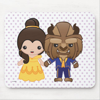 Beauty and the Beast Emoji Mouse Pad