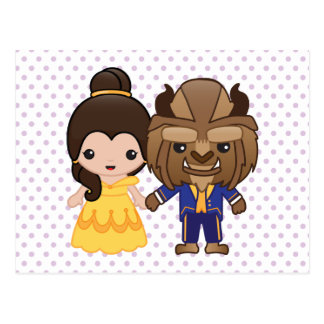 Beauty and the Beast Emoji Postcard