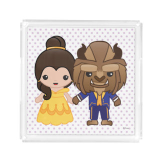 Beauty and the Beast Emoji Serving Tray
