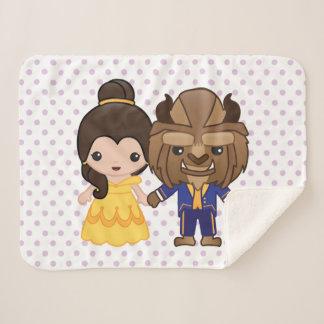 Beauty and the Beast Emoji Sherpa Blanket