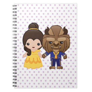 Beauty and the Beast Emoji Spiral Notebook