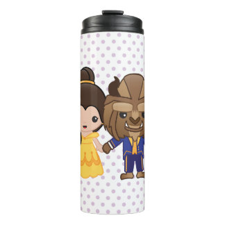 Beauty and the Beast Emoji Thermal Tumbler
