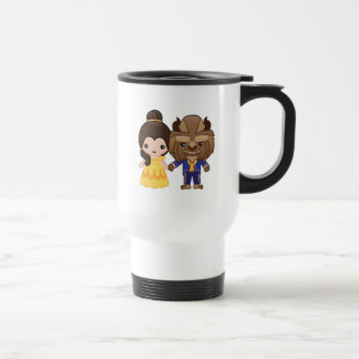 Beauty and the Beast Emoji Travel Mug