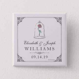 Beauty and the Beast | Enchanted Rose Wedding 2 Inch Square Button