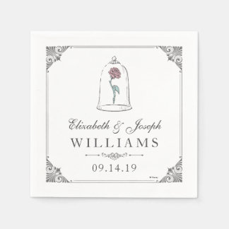 Beauty and the Beast | Enchanted Rose Wedding Paper Napkins