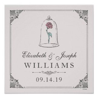 Beauty and the Beast | Enchanted Rose Wedding Poster