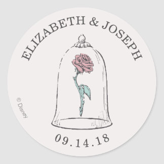 Beauty and the Beast | Enchanted Rose Wedding Round Sticker
