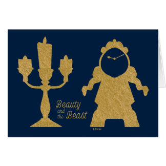 Beauty And The Beast | Lumiere & Cogsworth Card