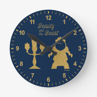 Beauty And The Beast | Lumiere & Cogsworth Round Clock