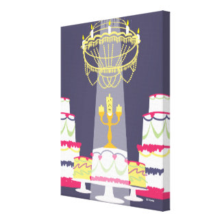 Beauty And The Beast | Lumiere With Cakes Canvas Print