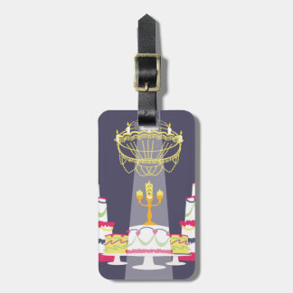 Beauty And The Beast   Lumiere With Cakes Luggage Tag