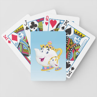 Beauty And The Beast | Mrs. Potts And Chip Bicycle Playing Cards