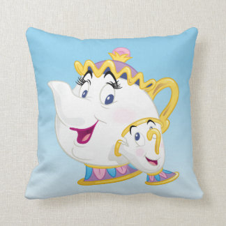 Beauty And The Beast | Mrs. Potts And Chip Throw Pillow