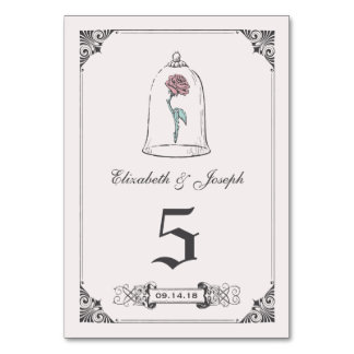 Beauty and the Beast | Rose Table Number