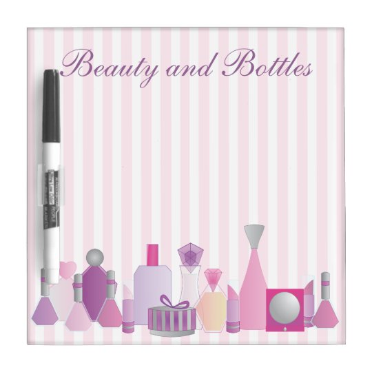 Beauty Bottles Dry Erase Board