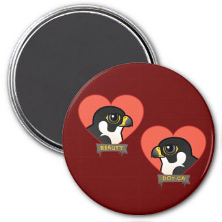 Beauty & Dot.Ca Hearts 3 Inch Round Magnet