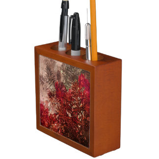 Beauty Floral Collage Desk Organizer