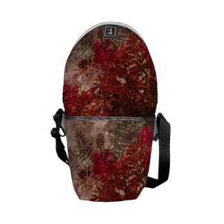 Beauty Floral Collage Messenger Bags