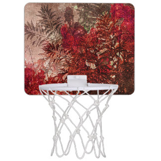 Beauty Floral Collage Mini Basketball Hoop