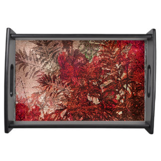 Beauty Floral Collage Serving Tray
