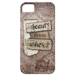 Beauty From Ashes Christian Damask Inspirational iPhone 5 Case