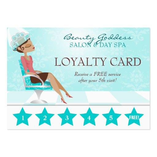 Beauty Goddess Loyalty Card Business Card
