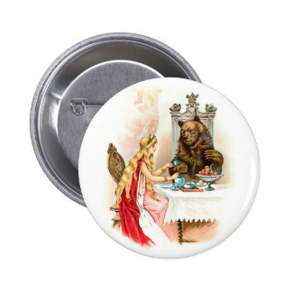 Beauty In Pink And The Beast 2 Inch Round Button