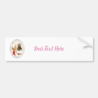 Beauty In Pink And The Beast Bumper Sticker