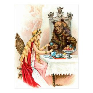Beauty In Pink And The Beast Postcard