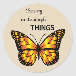 Beauty in the Small Things Stcker Classic Round Sticker