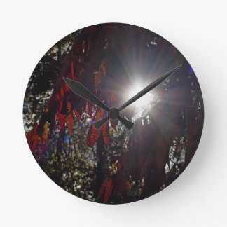 Beauty in the Sumac Round Clock
