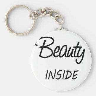 beauty inside keychain