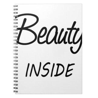 beauty inside notebook