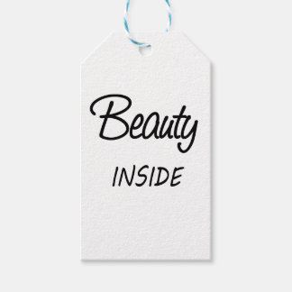 beauty inside pack of gift tags