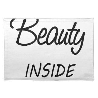 beauty inside placemat