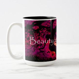 Beauty is all around us purple watercolor tree mug