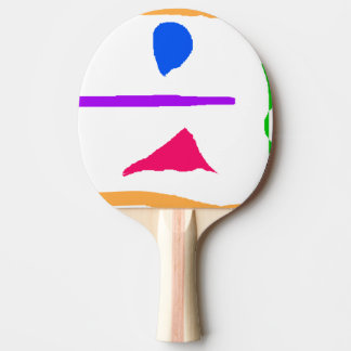 Beauty Is an Illusion Ping-Pong Paddle