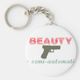 Beauty is semi-automatic key chain