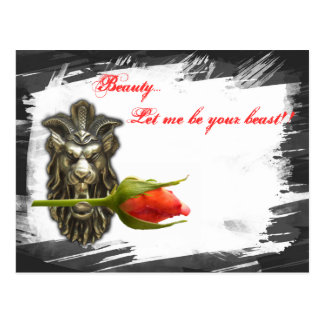 Beauty... let me be your beast!! postcard