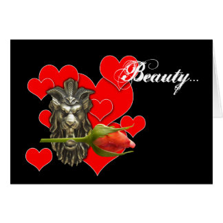 beauty let me be your beast... valentine card