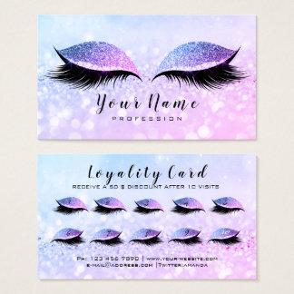 Beauty Loyalty Card 10 Makeup Lashes  Miami PInk