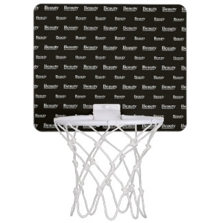 Beauty Moments Phrase Pattern Mini Basketball Hoop