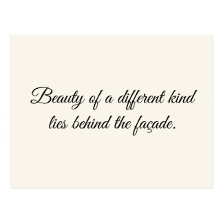 Beauty of a Different Kind Postcard