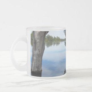 Beauty Of A Gum Tree  River Murray Australia, Frosted Glass Coffee Mug