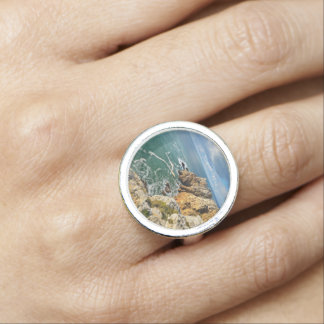 Beauty Of A Rocky Beach Photo Ring