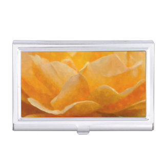 Beauty Of A Rose Painterly Business Card Holder
