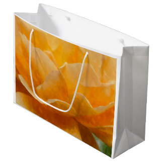 Beauty Of A Rose Painterly Large Gift Bag